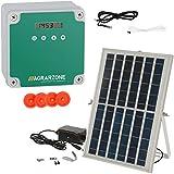 Agrarzone puerta automática de gallinero solar | Puerta para gallinero con temporizador y sensor de luz | 230V, batería y solar | Puerta para gallinero segura (sin corredera)