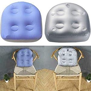 Whiie891203 - Cuscino gonfiabile per la pulizia della piscina, vasca idromassaggio, spa, con ventosa, colore: viola e grigio