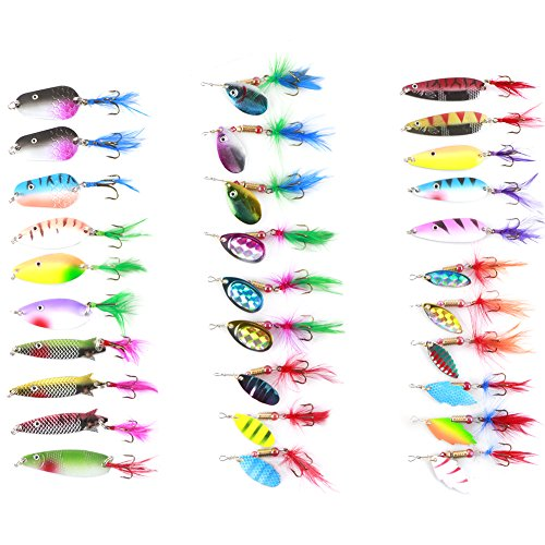 Freefisher - Kit de señuelos y Ganchos (30 Unidades)