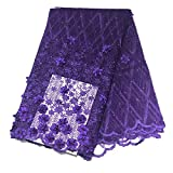 2020 French Net Lace Fabric for Nigeria Wedding Dress Embroidery Design African Tulle Siwss Mesh Voile Lace (as picture2)