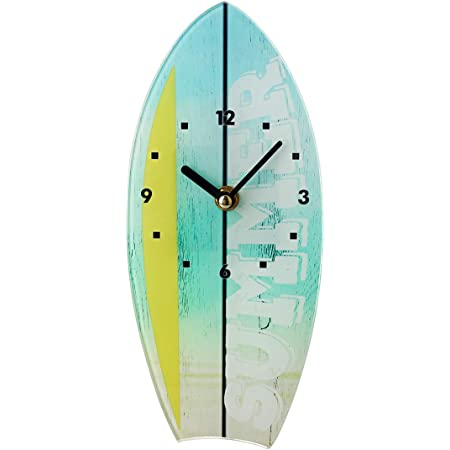 Topkey Glass Wall Clock Silent Boat Shape Table Stand Clock for Home Decoration Bedroom Kitchen 11cm * 25cm