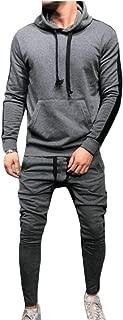 omniscient Men's 2 Pieces Hoodie Sweatshirt Jogger Pants Tracksuit Outfit Set
