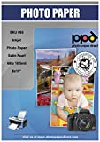 PPD 50 Sheets Inkjet Super Premium Satin Semi Gloss Photo Paper 8x10 68lbs 255gsm 10.5mil Microporous Professional Photographer Grade Instant Dry Fade and Water Resistant (PPD-95-50)