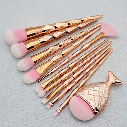 7 sirène maquillage brosse dégradé Fishtail maquillage brosse maquillage brosse sirène trousse de maquillage,XXL