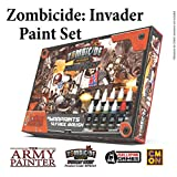 The Army Painter Zombicide: Invader Paint Set, 10 Acrylic Paints and 1 Starter Brush Beginner Set for Cool Mini or Not Zombicide: Invader Tabletop Boardgame Miniature Model Painting