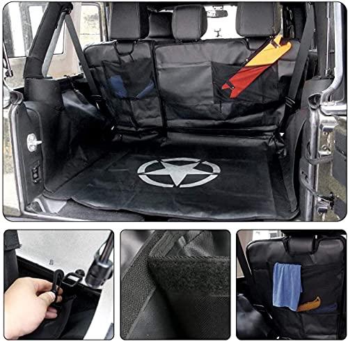 Aochuang Kofferraumauskleidung für Hunde, wasserdicht, strapazierfähig, Hängematten-Stil, für Jeep Wrangler JK 4-Türer 2007–2017