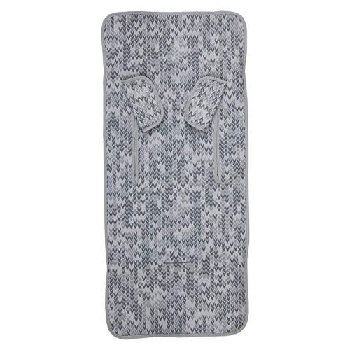 Colchoneta Bebé Silla + Cubrearneses Regalo, Hipersuave, Hipoalergénica, Tejido 3D Transpirable. (Game Gris)