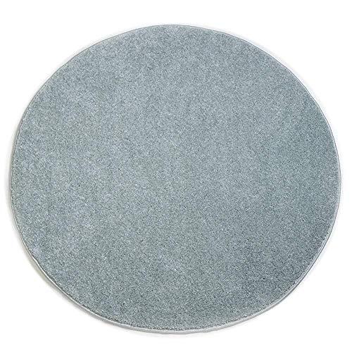 GQY Casual Home Skid tapijtvloer - vloer decoratieve deurmatten mat mat badmat ronde matten (kleur: mint blauw, maat: 120 * 120cm)