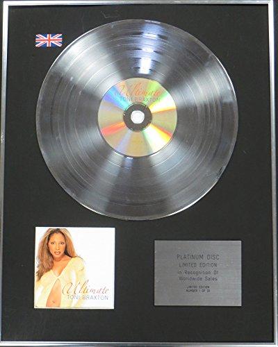 Century Music Awards Toni Braxton Ltd Edtn CD Platinum Disc - The Ultimate Collection