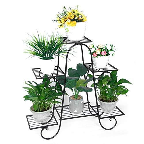 6-Tier Metal Flower Pot Plant Stand Balcony Floor-Standing Multilayer Shelf Rack,Flower Pot Shelf Rack Outdoor