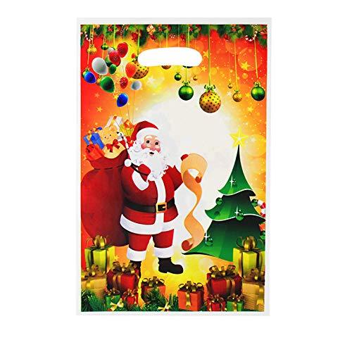 DIAOSUJIA Sac De Noël,20 Pcs Sacs Cadeaux De Noël Santa Claus Candy Bags Décorations De Noël pour Home Navidad New Year Party Bags 25×16 Cm