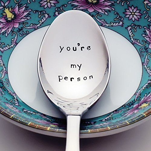 You're My Person (Option to Personalize with a Name) - Grey's Anatomy Inspired Stainless Steel Spoon | Stamped Silverware | Gift for Her | Unique Birthday Gifts for Friends | Mother's Day Gift for Mom