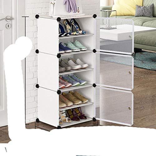2020 Nuevo zapatero multicapa ahorro de espacio zapatos botas organizador armario DIY montado módulo zapato gabinete re modern-3