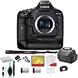 Canon EOS-1D X Mark II Full Frame DSLR Camera (Body Only) 0931C002 Bundle Kit with 128GB CompactFlash Memory Card + Spare Battery + More