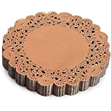 Lace Paper Doilies, Rose Gold Foil Decorations for Crafts (6 In, 200 Pack)