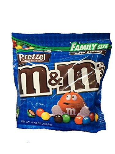 M&Ms Pretzel Family Size 15.4 oz Package