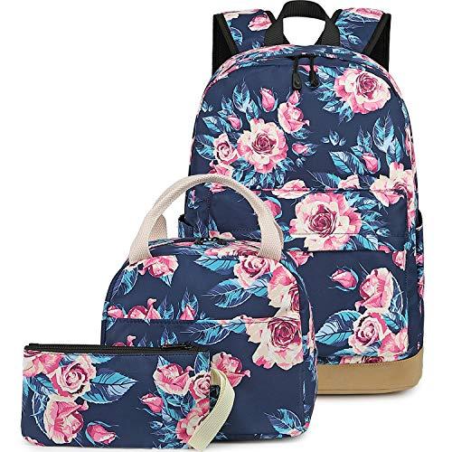 BLUBOON School Backpack Set Canvas Teen Girls Bookbags 15 inches Laptop...
