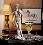 "Top Collection 12"" Small David Statue by Michelangelo in White Marble Finish"