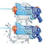 welltop Pistole ad Acqua per Bambini, 2 Pistole ad Acqua Super Soaker Blaster Squirt Giocattoli Fino a 30 Piedi di Distanza con capacità 900CC per Adolescenti, Adulti, Feste, Spiaggia