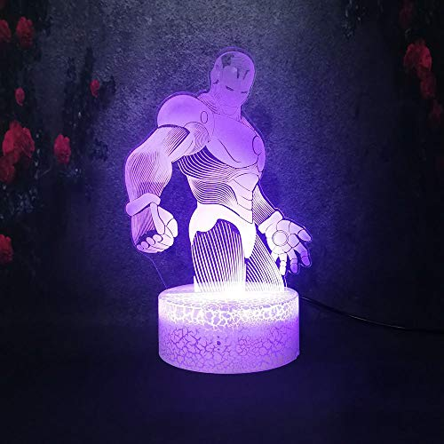Final Battle 3D Night Light Home Comodino Crepa Lampada da tavolo Festival Ragazzo Ragazza Laureati Regali per le vacanze Lampadina a LED
