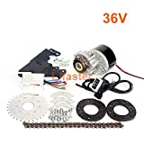 L-faster 24V36V250W Electric Conversion Kit for Common Bike Left Chain Drive Customized for Electric Geared Bicycle Derailleur (36VThumb Kit)