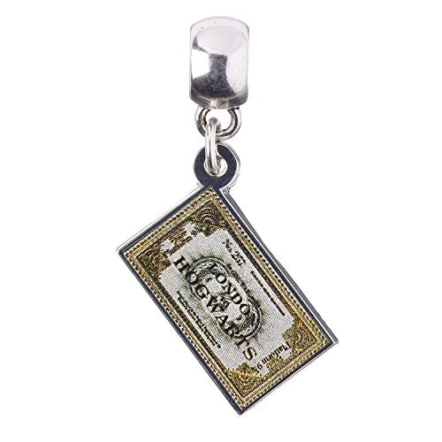 Ufficiale Licenza Harry Potter argento placcato Hogwarts Express Ticket Slider Charm