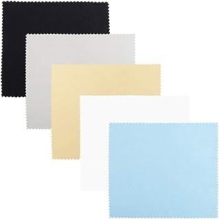 SourceTon Paños de Limpieza de Microfibra, 25 Paquetes de 6 x 7 Pulgadas, 5 Colores de paños de Limpieza de Microfibra (Gris, Negro, Amarillo, Blanco, Azul) para Gafas, Lentes, teléfono, tabletas