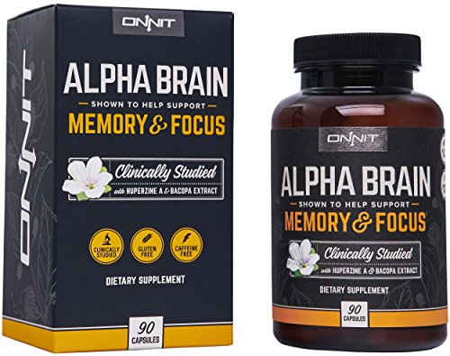 Onnit Alpha BRAIN®: Flagship Memory, Focus, and Mental Clarity Supplement - Clinically Studied to Support Optimal Brainwave Function and Processing Speed