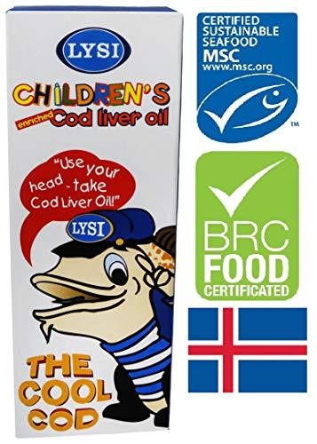Lysi Icelandic Fish Cod Liver Oil Lebertran 240 Milligram Liquid Mild Taste from Baby Onwards
