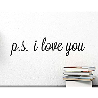 (23x6) P.S. I love you wall art Wall Vinyl Decal Quote Art Saying lettering stencil
