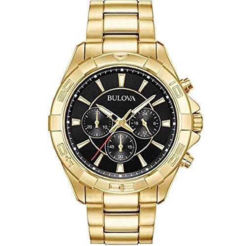 Bulova herenhorloge chronograaf kwarts horloge met roestvrij stalen armband 97A139