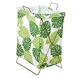 Cesto de Ropa Sucia, cesto de Ropa Sucia, lavandería IKEA, baño, Cubo de Ropa, cesto Plegable Impermeable (Color : Green Leaves)