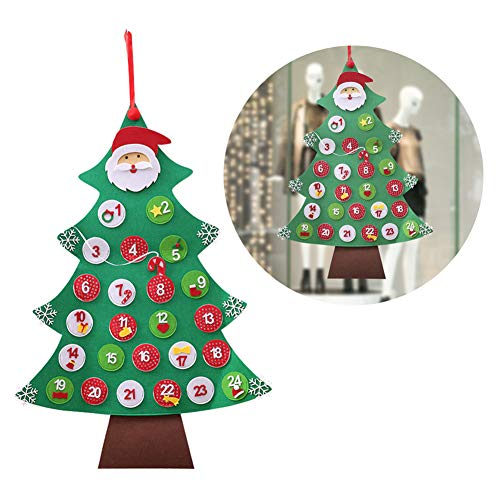 PERIWIN Kerstman Kerstmis Adventskalender Hangende kerstboom huis raamdecoratie - Huis#