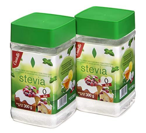 Castelló Since 1907 Dolcificante Stevia + Eritritolo 1:1 - Confezione 2 x 300 g - Total: 600 g