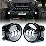 Xprite 4 Inch LED Fog Lights for 2007-2018 Jeep Wrangler JK Unlimited...