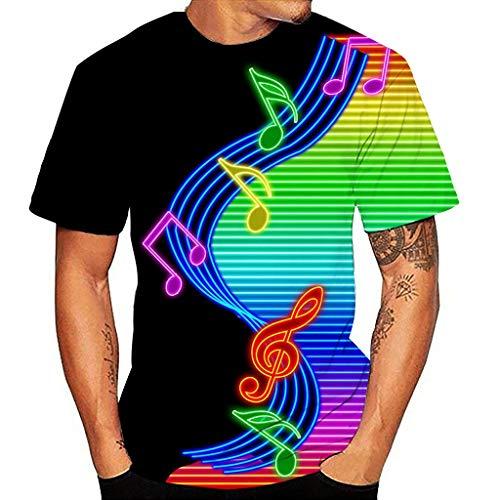 Yowablo Herren Poloshirt Polohemd Stehkragenshirt Kurzarmshirt Funktionsshirt Sportshirt Fitness Shirt Tee T-Shirt Sporthemd Trainingsshirt Sportswear T-Shirt (L,6Mehrfarbig)