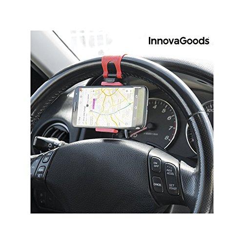 InnovaGoods IG115182 - Soporte de móviles para Coche, Color Negro y Rojo