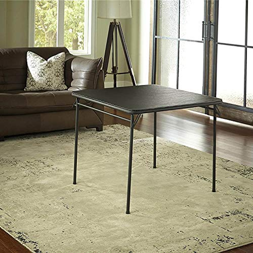 "Cosco 14-619-BLK1 Black Square Folding Table 34""x34"""