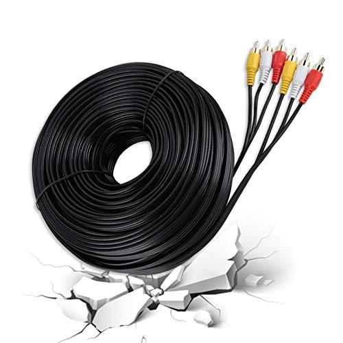 Cable de video, Cable Rca 3RCA Rca Tv Cable RCA Cord, Cable de audio Rca para DVD TV Cable Car DVD(30 meters)