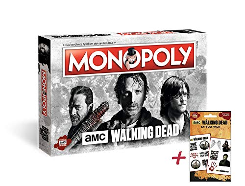 Monopoly The Walking Dead AMC + Zusatzartikel (mit Tattoo Pack 2)