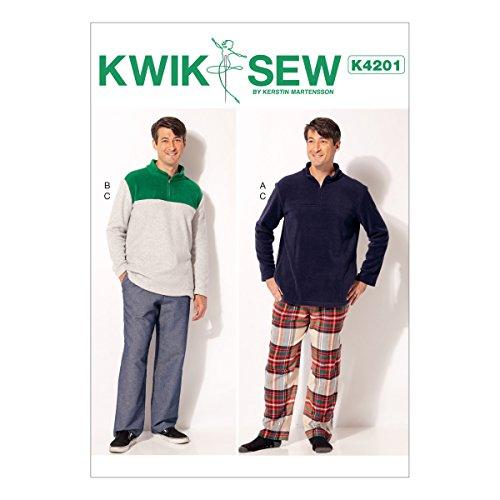 Kwik Naaipatronen K4201OS,Heren Tops en Broek, maten S-XXL, Tissue, Multi/Kleur, 17 x 0.5 x 22 cm