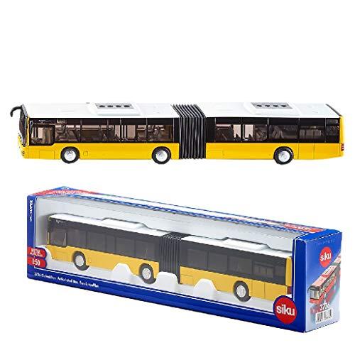 SIKU 3736, Gelenkbus, 1:50, Metall/Kunststoff, Gelb, Bereifung aus Gummi, Öffenbare Türen