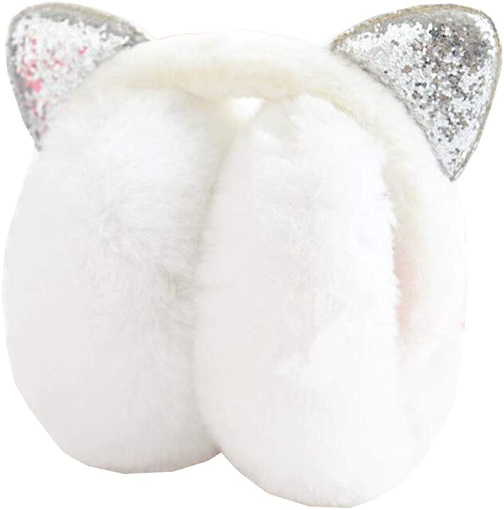 Cute Animal Soft Earmuffs Winter Warm Outdoor Ear Covers Headband Fur Ear warmer,#B19