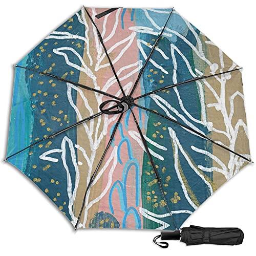 LYYNBLA Underwater OceanCompact - Paraguas de viaje plegable para exteriores, resistente al viento, lluvia y sol, Impresión interior., Taille unique