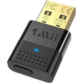 1Mii Bluetooth トランスミッター USB 5.0 ブルートゥース オーディオ アダプター ドライブのインストール不要 PC/MAC/PS4/Xbox/tvからBluetoothイヤホンに音声を発信する用 超小型 高音質 aptx ll 対応 低遅延 2台同時接続 送信機 B10