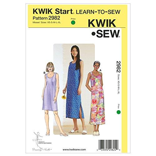 Kwik Sew K2982 Dresses Sewing Pattern, Size XS-S-M-L-XL