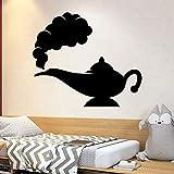 Lámpara de jazmín gin etiqueta de la pared vinilo decoración del hogar sala de niños niño niño niña dormitorio calcomanía infantil patrón de dibujos animados mural decorativo A4 48x42cm