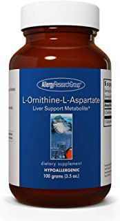 Allergy Research Group - L-Ornithine-L-Aspartate - Liver Support Amino Acid - 100 Grams (3.5 oz)