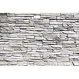 GREAT ART Mural De Pared – Muro De Piedra Blanca – Reves