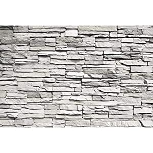 GREAT ART Mural De Pared – Muro de Piedra Blanca – Revestimiento de Paredes de diseño Industrial, Muro de Piedra Natural Foto Papel Pintado Y Tapiz Y Decoración (336 x 238 cm)